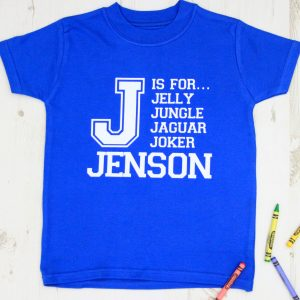 Personalised Childrens Name T Shirt