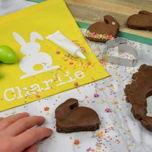 Chocolate Bunny Biscuit Baking Bag