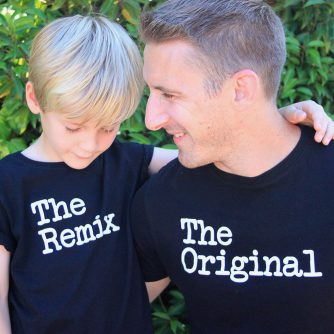 Father and son tee