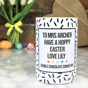 Personalised Easter Double Choc Cookie Mix