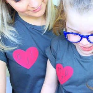 Mummy's heart t-shirt