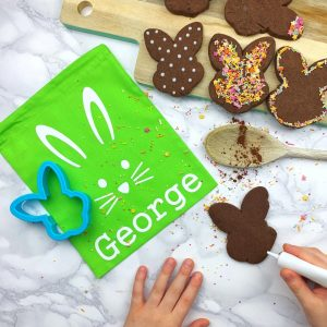 Chocolate Bunny Biscuit Baking Bag