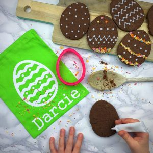 Chocolate Egg Biscuit Baking Bag